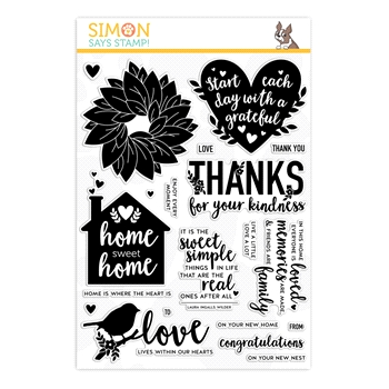 Simon Says Clear Stamps HOME SWEET HOME sss202016 Rest and Refresh *