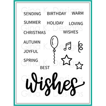 Gina K Designs WISHES Clear Stamps 1357