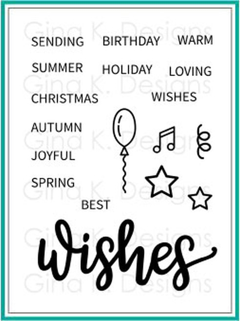 Gina K Designs WISHES Clear Stamps 1357 zoom image