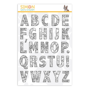 Simon Says Clear Stamps ORNATE ALPHABET sss201970 Rest and Refresh