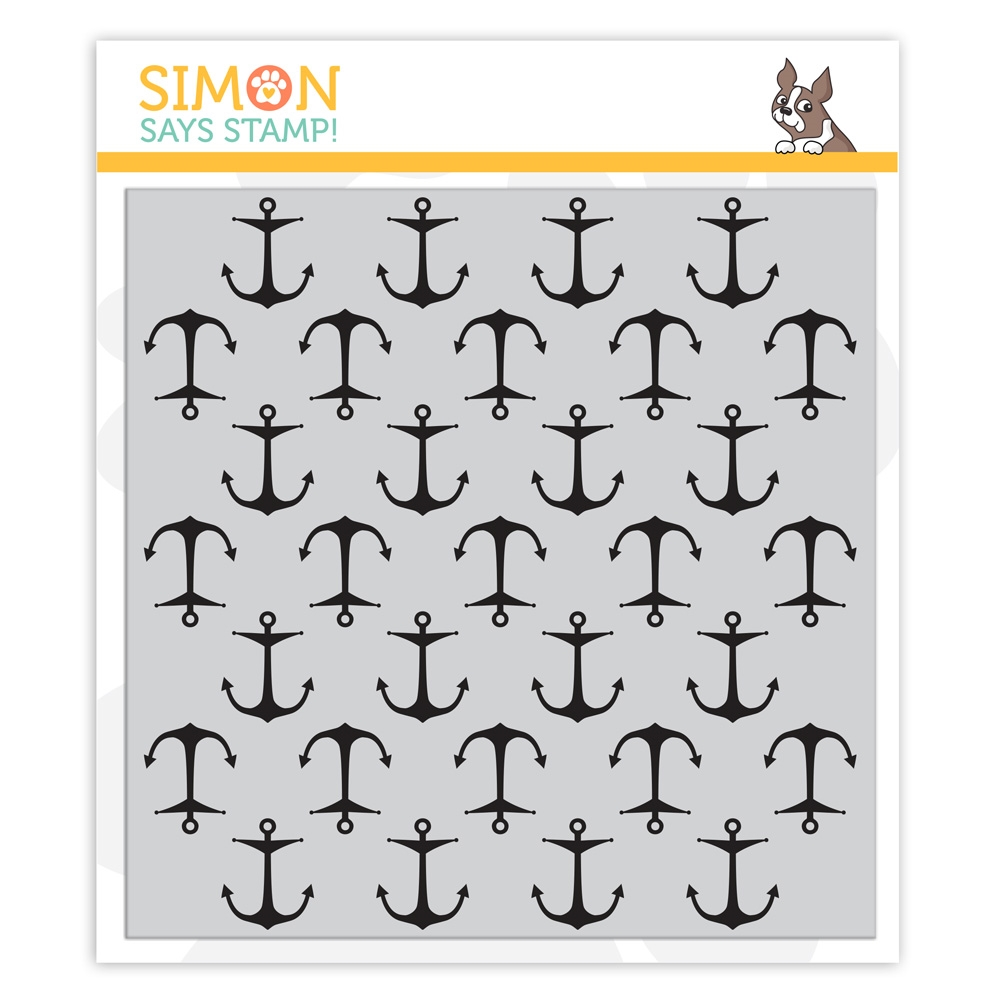 Simon's Exclusive Anchors Background Cling Stamp