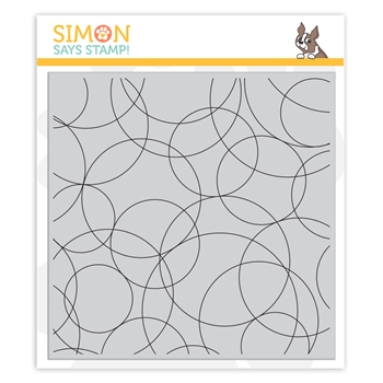 Simon Says Cling Stamp ROUND AND ROUND BACKGROUND sss101985 Rest and Refresh