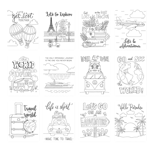 Simon Says Stamp Suzy's ADVENTUROUS Watercolor Prints szadv0619 Rest and Refresh Preview Image