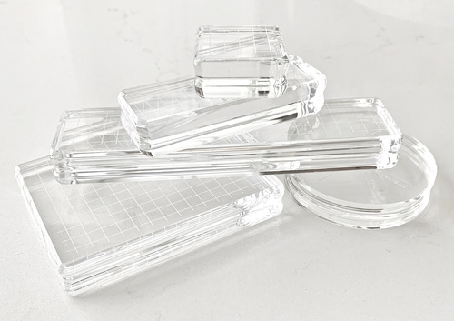 Gina K Designs SET OF FIVE COMFORT ACRYLIC BLOCKS With Carrying Case 1234 zoom image