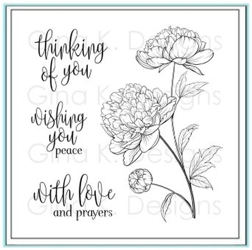 Gina K Designs PEACEFUL FLORAL Clear Stamps 1401 zoom image