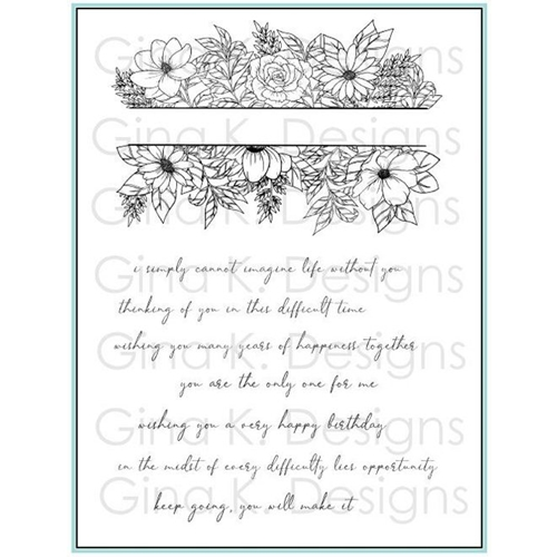 Gina K Designs WHIMSICAL FLOWER FRAME Clear Stamps 1272 Preview Image