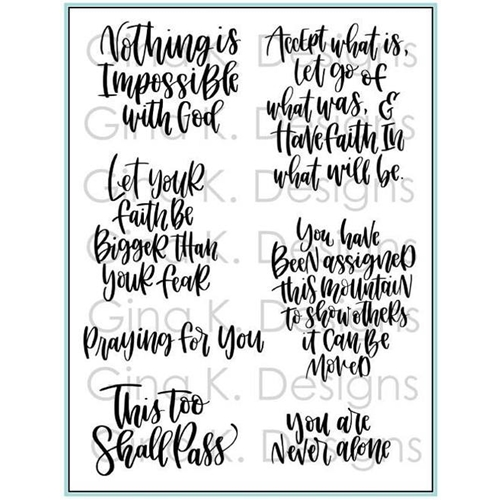 Gina K Designs HAVE FAITH Clear Stamps 1340 Preview Image