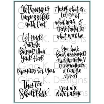 Gina K Designs HAVE FAITH Clear Stamps 1340