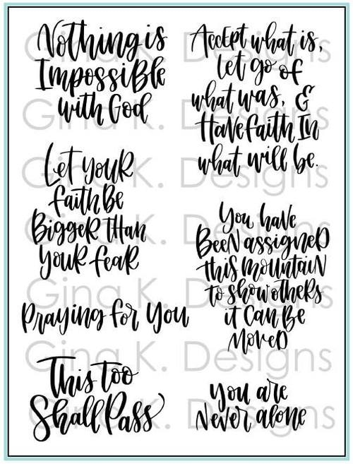 Gina K Designs HAVE FAITH Clear Stamps 1340 zoom image
