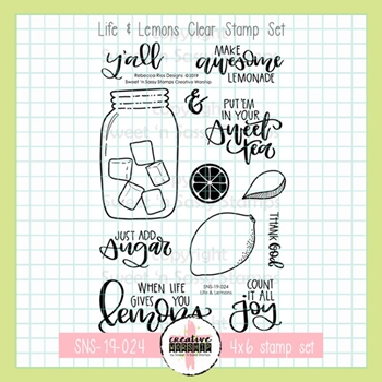 Sweet 'N Sassy LIFE AND LEMONS Clear Stamp Set rr-sns-19-024
