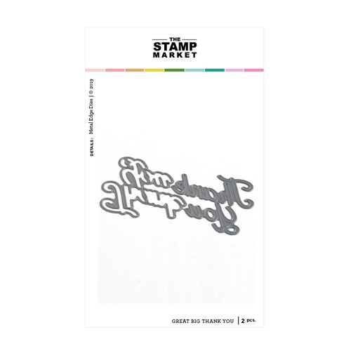 The Stamp Market GREAT BIG THANK YOU Die Set tsm2101 Preview Image