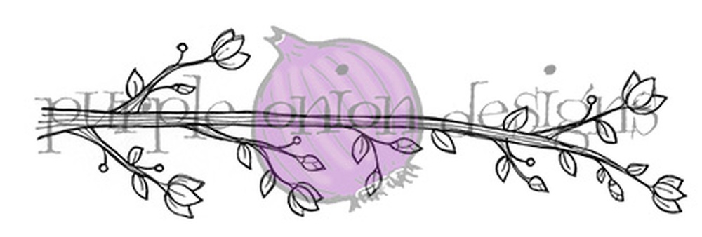 Purple Onion Designs BLOSSOMING PERCH Cling Stamp pod1058 zoom image