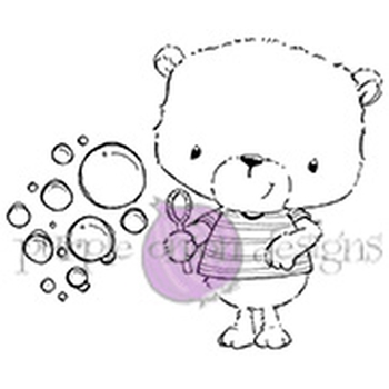 Purple Onion Designs JACKSON AND BUBBLES Cling Stamp pod1064