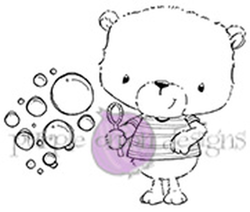 Purple Onion Designs JACKSON AND BUBBLES Cling Stamp pod1064 zoom image