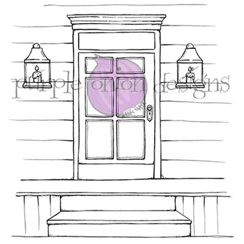 Purple Onion Designs FRONT DOOR Cling Stamp pod1066