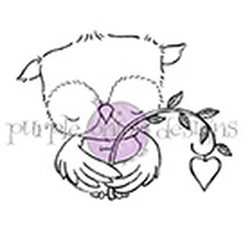 Purple Onion Designs SWEETHEART Cling Stamp pod1068