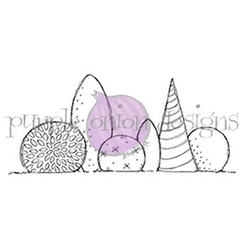 Purple Onion Designs GARDEN BUSHES Cling Stamp pod1069