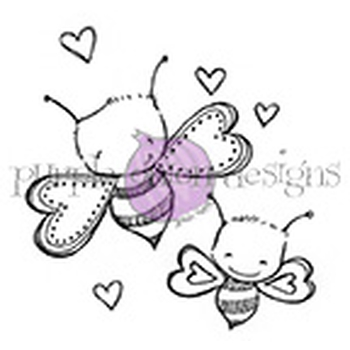 Purple Onion Designs BEE MINE Cling Stamp pod1074