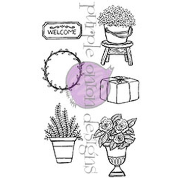 Purple Onion Designs DOOR DECOR 2 SPRING AND SUMMER Cling Stamp pod1082