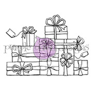 Purple Onion Designs PRESENTS Cling Stamp pod1086
