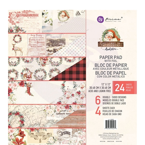 Prima Marketing CHRISTMAS IN THE COUNTRY 12 x 12 Paper Pad 995270 Preview Image