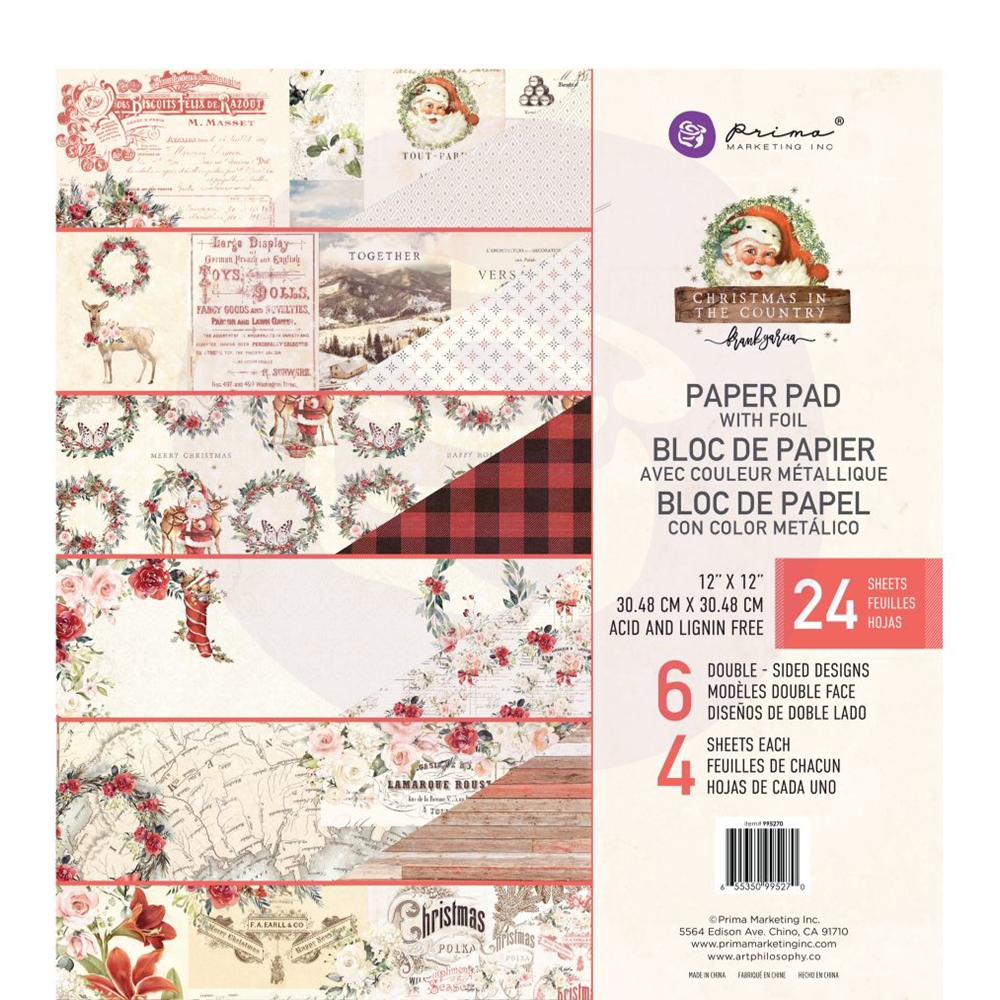 Prima Marketing CHRISTMAS IN THE COUNTRY 12 x 12 Paper Pad 995270 zoom image
