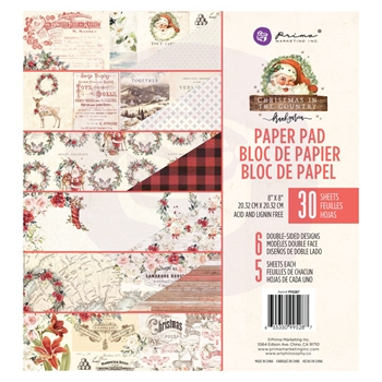 Prima Marketing CHRISTMAS IN THE COUNTRY 8 x 8 Paper Pad 995287