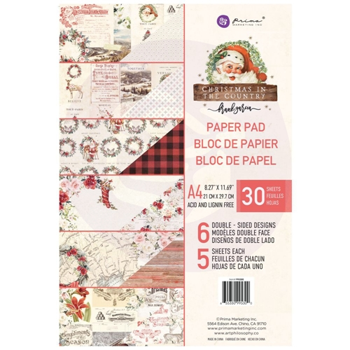 Prima Marketing A4 Paper Pad CHRISTMAS IN THE COUNTRY 995300 Preview Image