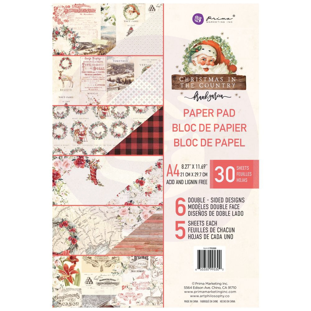 Prima Marketing A4 Paper Pad CHRISTMAS IN THE COUNTRY 995300 zoom image