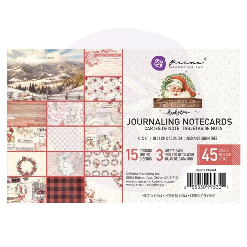 Prima Marketing CHRISTMAS IN THE COUNTRY 4 X 6 Journaling Cards Pad 995324 Preview Image
