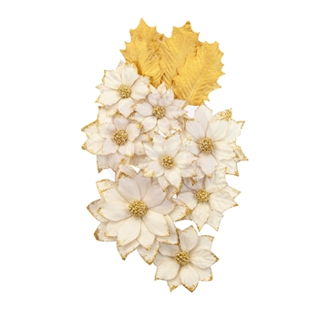 Prima Marketing WHITE CHRISTMAS Christmas In The Country Flowers 642471