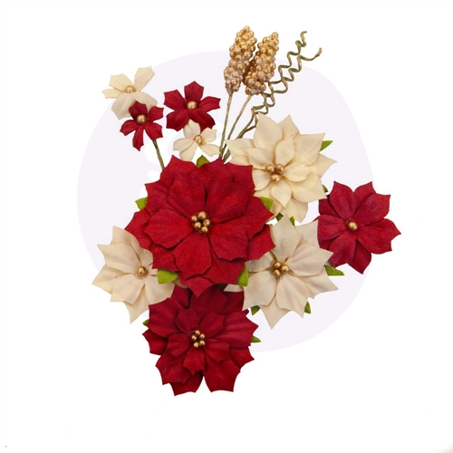 Prima Marketing JOYFUL Christmas In The Country Flowers 642587 Preview Image
