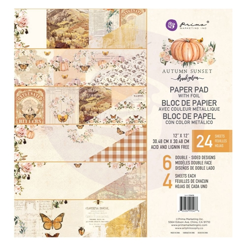 Prima Marketing AUTUMN SUNSET 12 x 12 Paper Pad 995478 Preview Image