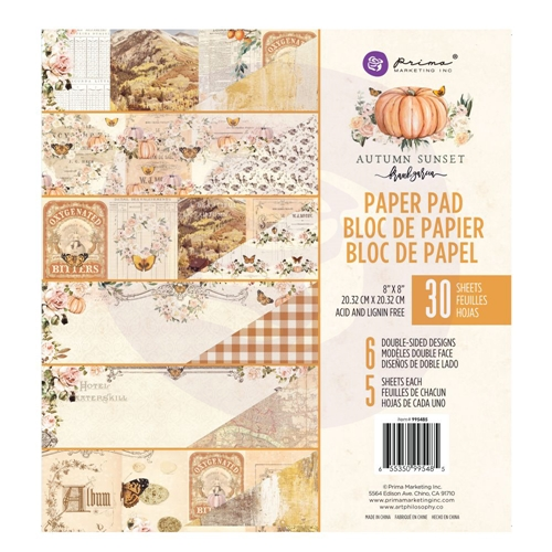 Prima Marketing AUTUMN SUNSET 8 x 8 Paper Pad 995485 Preview Image