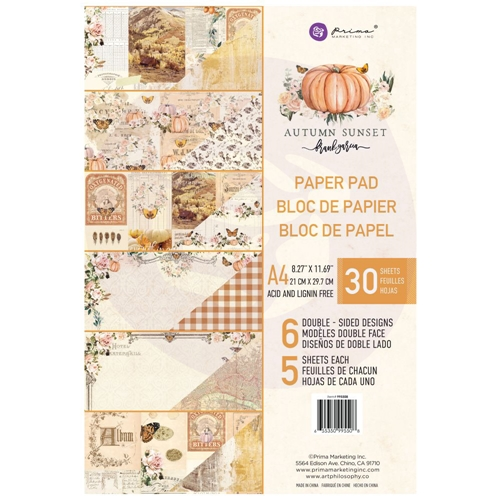 Prima Marketing A4 Paper Pad AUTUMN SUNSET 995508 Preview Image