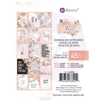Prima Marketing APRICOT HONEY 3 X 4 Journaling Cards Pad 638900