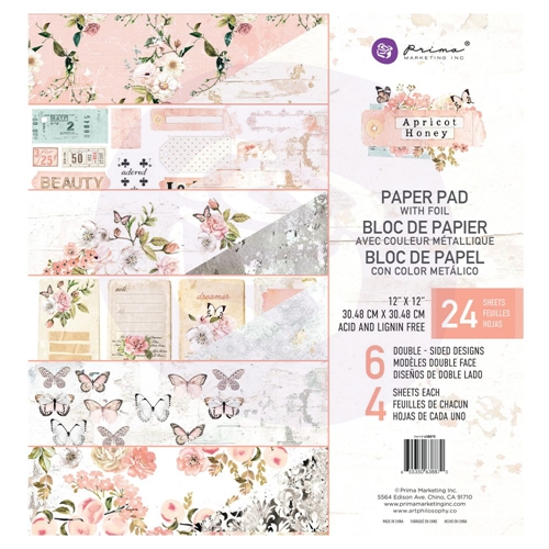Prima Marketing APRICOT HONEY 12 x 12 Paper Pad 638870 Preview Image
