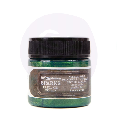 Prima Marketing SPARKS GREEN GOBLIN Art Alchemy Acrylic Paint 967765 Preview Image