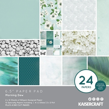 Kaisercraft MORNING DEW 6.5 INCH Paper Pad PP1069