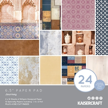 Kaisercraft JOURNEY 6.5 INCH Paper Pad PP1070