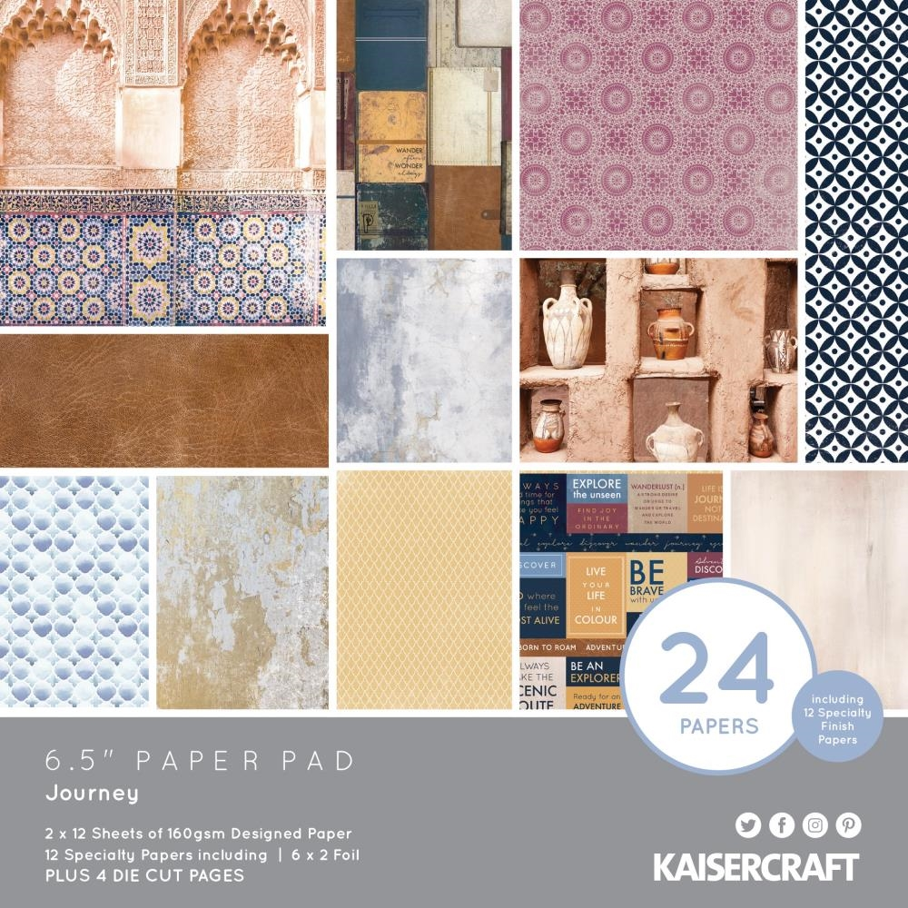 Kaisercraft JOURNEY 6.5 INCH Paper Pad PP1070 zoom image