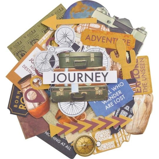 Kaisercraft JOURNEY COLLECTABLES Die Cut Shapes CT964 zoom image