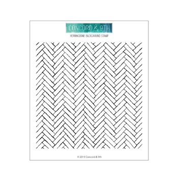 Concord & 9th HERRINGBONE Clear Stamp Set 10626