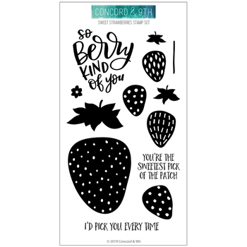 Concord & 9th SWEET STRAWBERRIES Clear Stamp Set 10637
