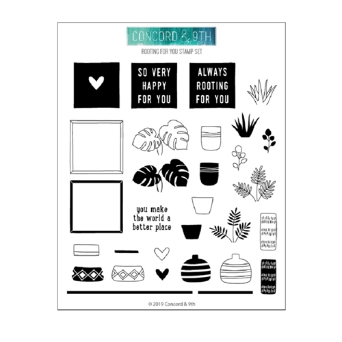 Concord & 9th ROOTING FOR YOU Clear Stamp Set 10628 Preview Image