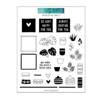 Concord & 9th ROOTING FOR YOU Clear Stamp Set 10628