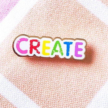 The Gray Muse CREATE Enamel Pin tgm-j19-p25