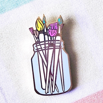 The Gray Muse PAINT BRUSHES Enamel Pin tgm-j19-p33