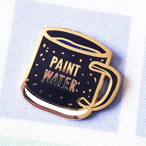 The Gray Muse PAINT WATER Enamel Pin tgm-j19-p34 Preview Image