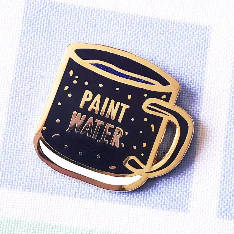 The Gray Muse PAINT WATER Enamel Pin tgm-j19-p34 zoom image
